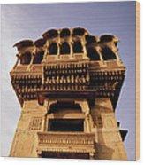 A Rajasthan Haveli Wood Print