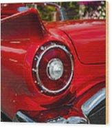 1957 Ford Thunderbird Classic Car  Wood Print