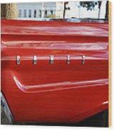 Classic Red Comet Wood Print