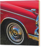 Classic Red Studebaker Wood Print