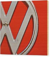 Classic Red Vw Wood Print