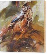 Classic Rodeo 6 Wood Print