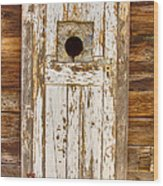 Classic Rustic Rural Worn Old Barn Door Wood Print