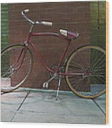 Classic Schwinn Bike  Wood Print