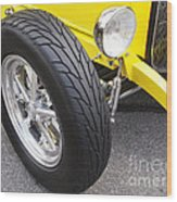 Classic Tire Tread Wood Print