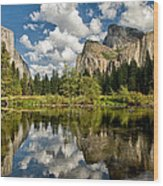 Classic Valley View Wood Print