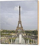 Classic View Of Paris Wood Print