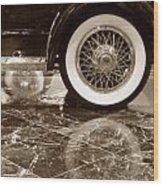 Classic Wheels Sepia Wood Print