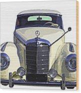 Classic White Mercedes Benz 300  Wood Print