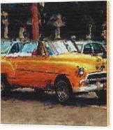 Classic Yellow Havana Wood Print by Fran Hogan
