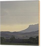 Classic Yellowstone Buttes At Dusk Wood Print