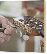 Classical Guitar Maker Wood Print