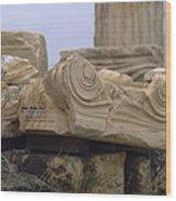 Classical Ruins Wood Print