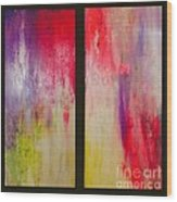 Classy And Sassy   Diptych Wood Print