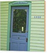 Classy Farmhouse Door Wood Print