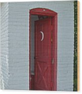 Classy Outhouse Wood Print