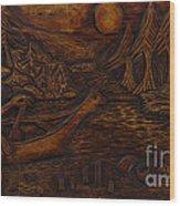 Clatsop Coyote God Italapas Wood Print
