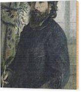 Claude Monet Self-portrait Wood Print