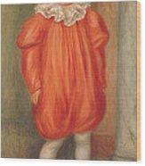 Claude Renoir In A Clown Costume Wood Print