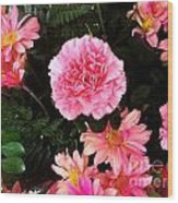 Carnations The Spanish Flower Wood Print