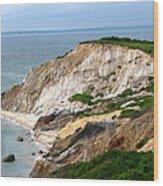 Clay Cliffs Wood Print