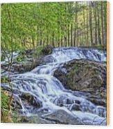 Clay Creek Falls Wood Print by Bob Jackson
