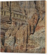 Clay Mountain Formations In Front Wood Print
