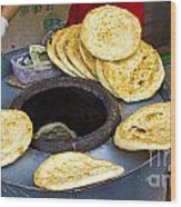 Clay Oven Bread Wood Print