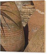 Clay Pots   #7806 Wood Print