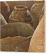 Clay Pots   #7811 Wood Print