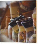 Clay Pots Wood Print