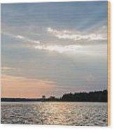 Clayton Lake Sunset Wood Print