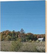 Clear Autumn Country Sky Wood Print
