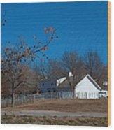 Clear Blue Sky - Oil On Canvas Wood Print