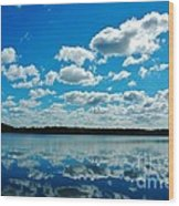 Clear Blue Waters  Wood Print
