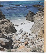 Clear California Cove Wood Print