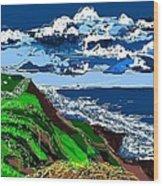 Clear Coast Wood Print