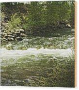 Clear Creek In Colorado Wood Print