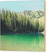 Clear Green Water Wood Print
