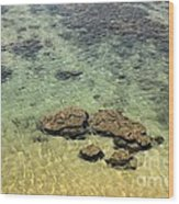 Clear Indian Ocean Water With Rocks At Galle Sri Lanka Wood Print
