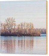 Clear Morning On The River Wood Print