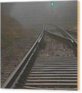 Clear Track Wood Print