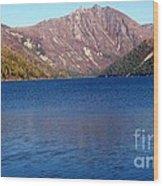 Clear Water Lake Wood Print