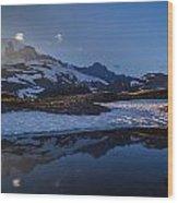 Clear Water Rainier Reflection Wood Print