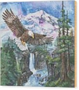 Cleared For Landing Mount Baker Wood Print