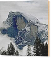 Clearing Storm Around Half Dome Wood Print