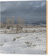 Clearing Storm In The Tetons Wood Print
