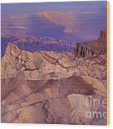 Clearing Sunrise Storm Zabriske Point Death Valley National Park California Wood Print