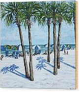 Clearwater Beach Morning Wood Print