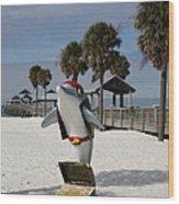 Clearwater Beach Pirate Wood Print